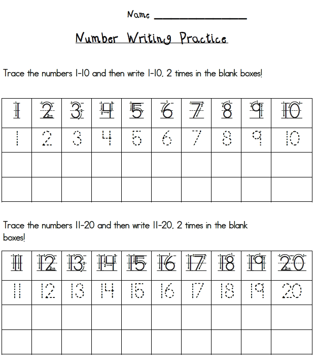Number Writing - Lessons - Tes Teach