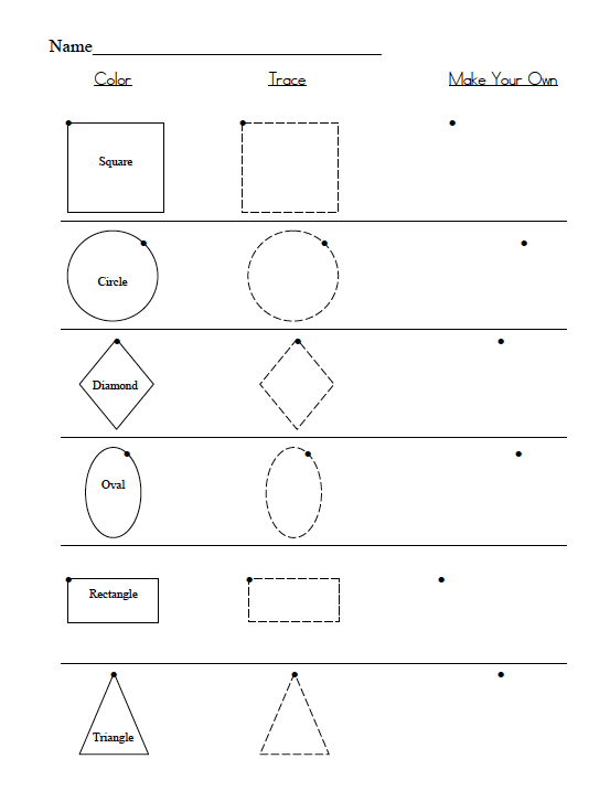 Preschool shape recognition assessment : Shape Recognition Assessment
